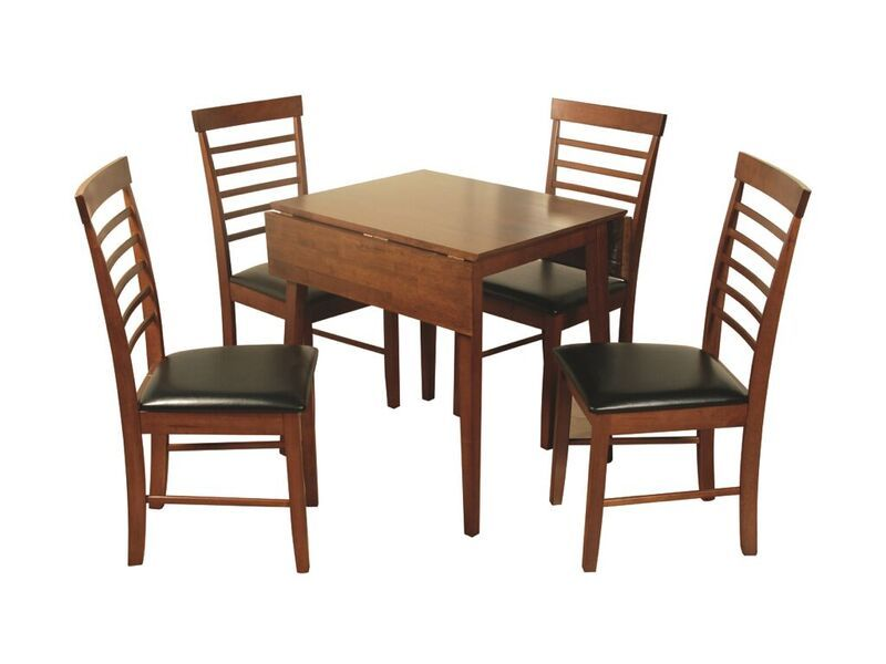 Hanover dark square drop leaf table with 4 chairs - Drop leaf table and chairs uk ...