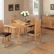 city oak 4ft extending dining table with 4 chairs