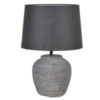 distressed effect grey lamp with shade