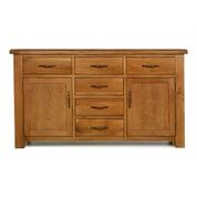 "e wood 6 drawer 2 door large sideboard ""150cm wide"""