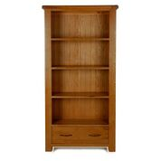 e wood tall wide bookcase  with drawer