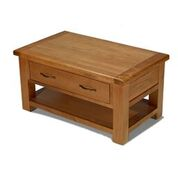 earlswood coffee table with drawer and shelf