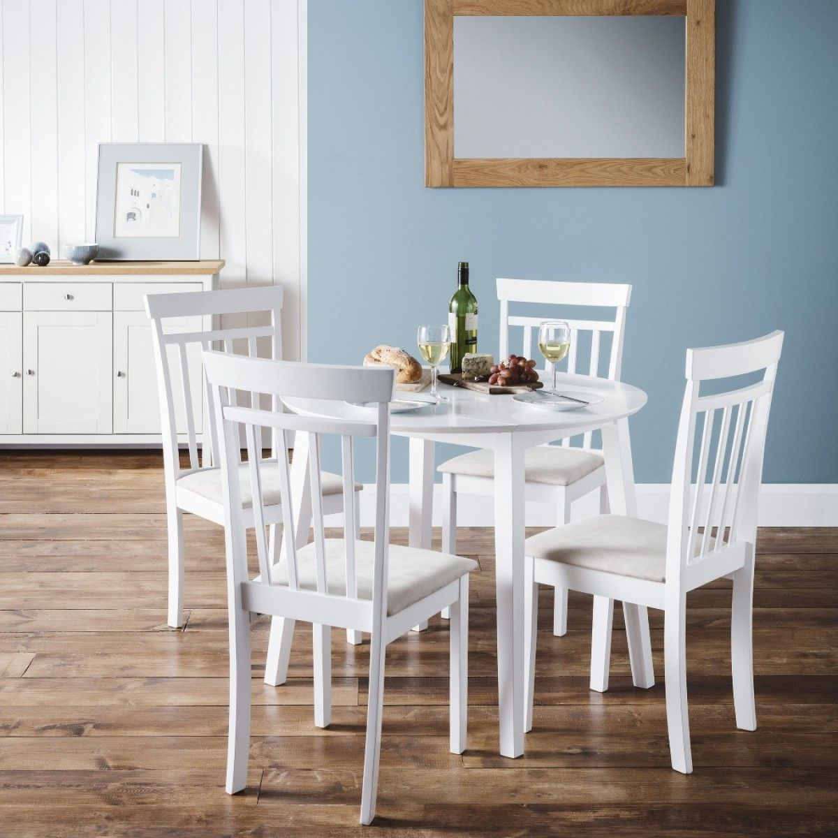 host white drop leaf table and chairs