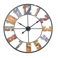 "multi coloured wall clock  ""dia 100cm"""